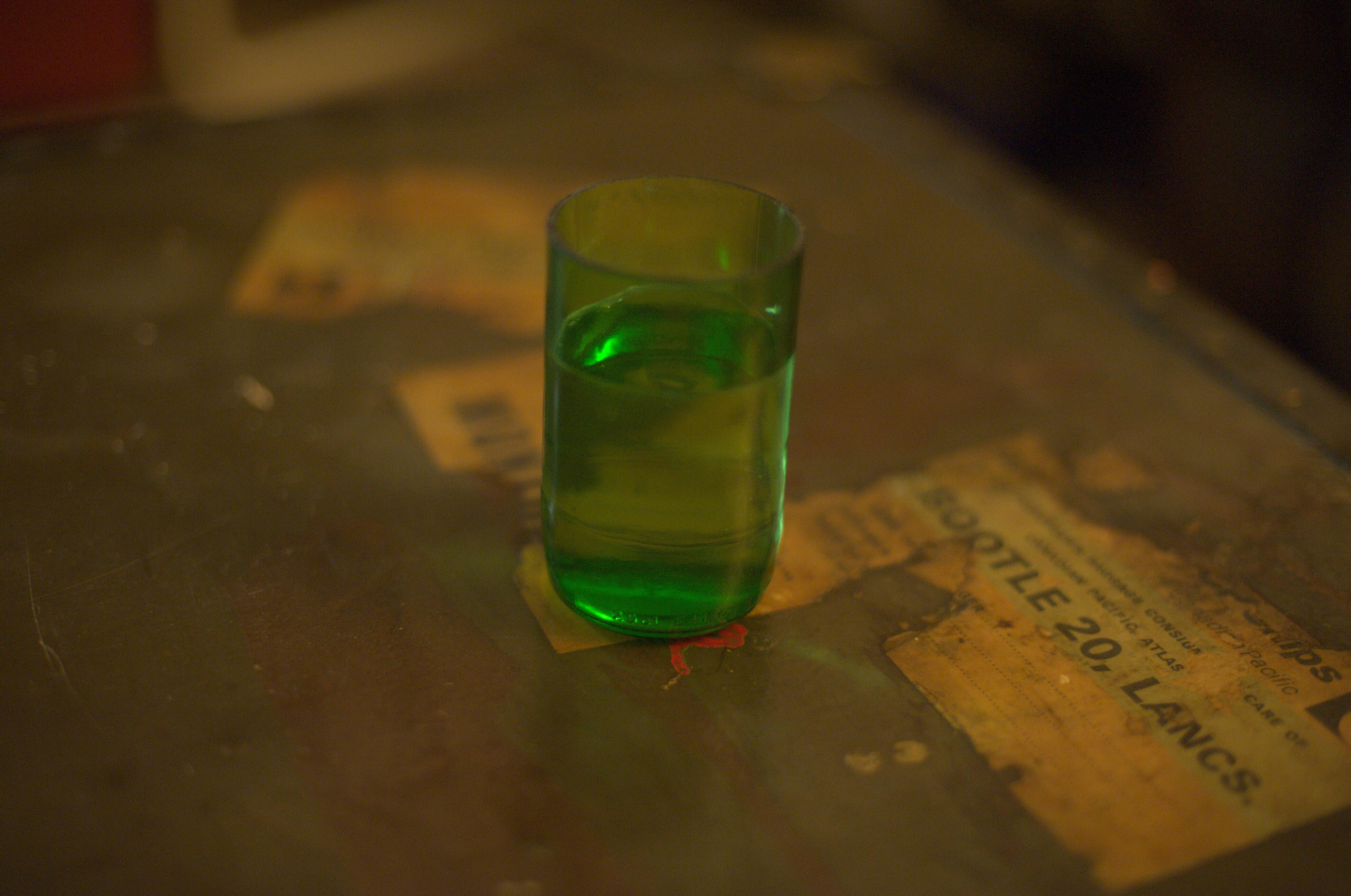 Emerald Coloured Glasses