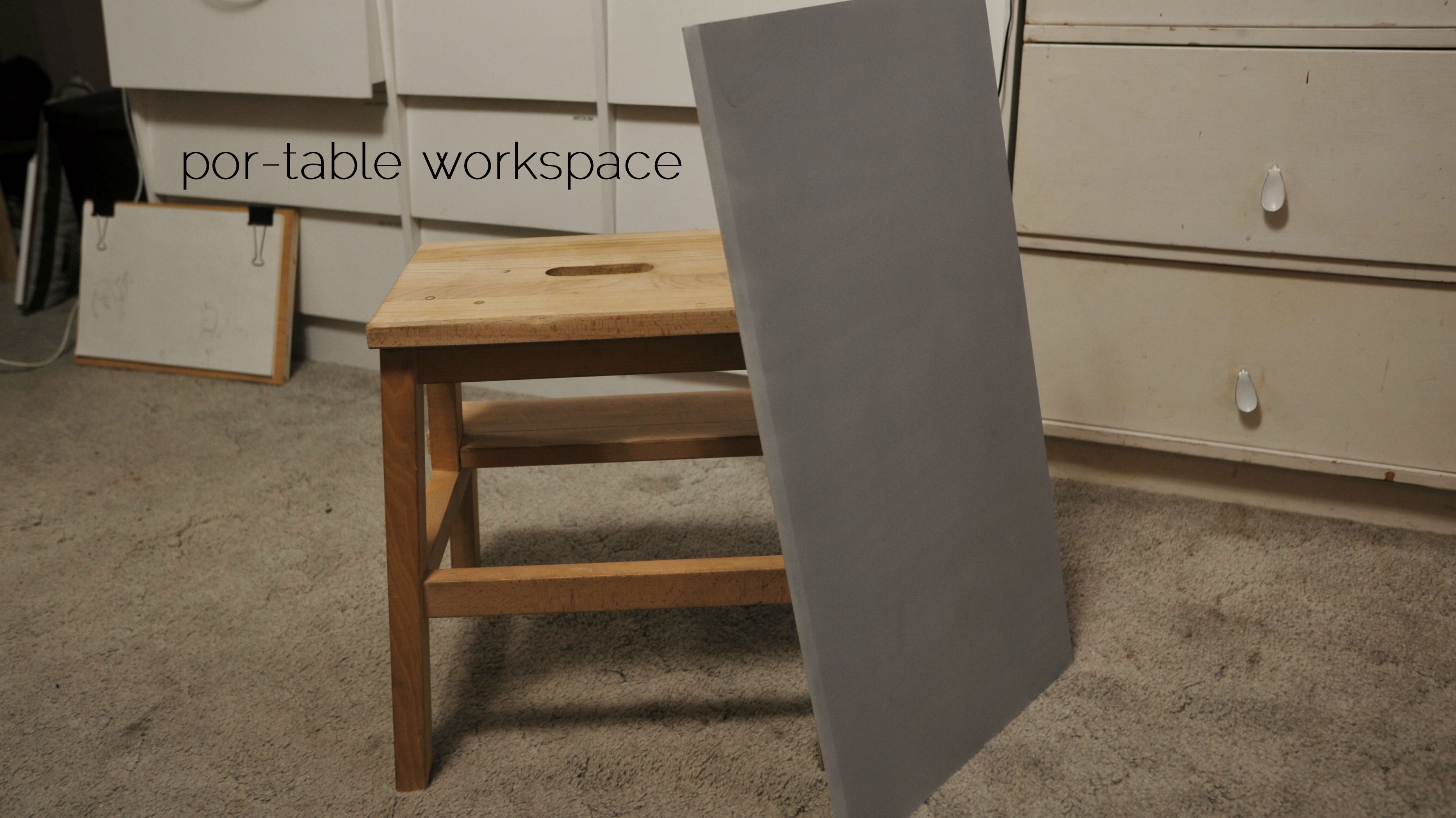 Stool Enhancement: Portable workspace