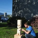 Outdoor Oversized Jenga - You take a block from the middle