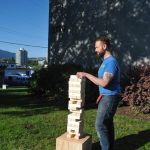 Outdoor Oversized Jenga - And you put it on top