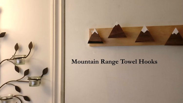 Mountain Range Towel Hooks Installed